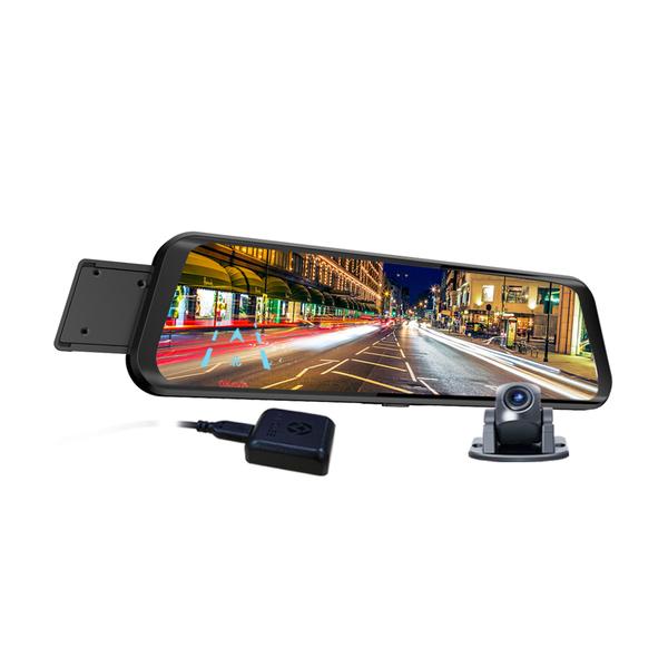 送32G~領先者ES-29 PRO前後雙鏡1080P+GPS測速提醒 全螢幕觸控後視鏡行車記錄器