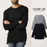 【GT】FairPlay Bates 黑灰 長袖T恤 休閒 毛衣 長版 上衣 素T 長T 美牌 現貨 毛線衣 前短後長