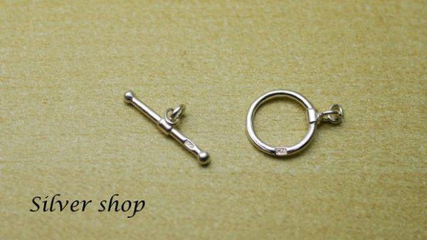 Silver shop 純銀素面OT扣 扣頭 1組 [ spp 009 ]