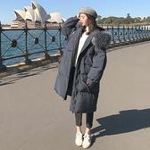 連帽外套-長版舖棉寬鬆大毛領抽繩女夾克2色73wd19[巴黎精品]
