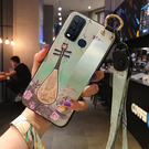 vivo Y50 手機殼 中國風 復古 腕帶支架保護套全包防摔浮雕軟殼 創意潮外殼 保護殼
