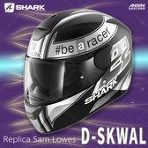 [中壢安信]法國SHARK D-SKWAL 彩繪 Replica Sam Lowes 消黑白 全罩 輕量 安全帽 內墨片