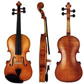 SEKWANG SVN-500雲杉實木虎紋小提琴-4/4嚴選烏木配件/具備微調器/全套配件