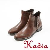 ★2017秋冬新品★kadia.經典率性側扣牛皮短靴(7701-70咖啡)