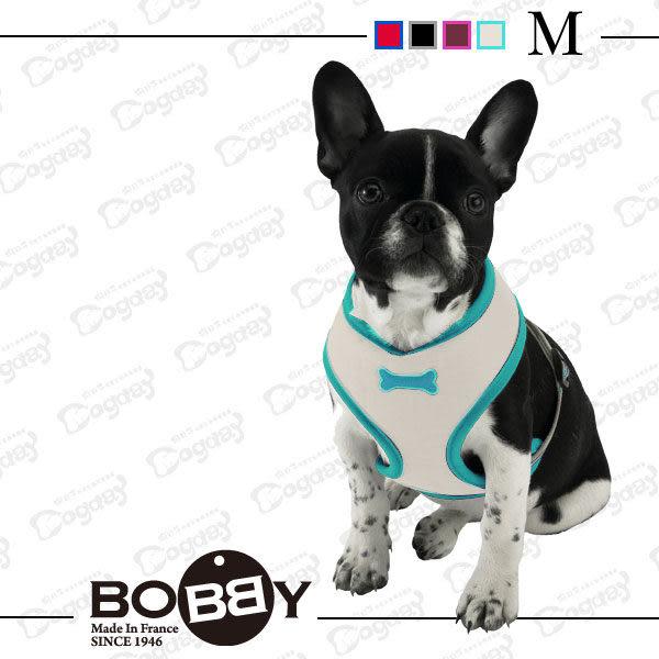 法國《BOBBY》運動彩條 背心胸背 M號 項圈 胸背