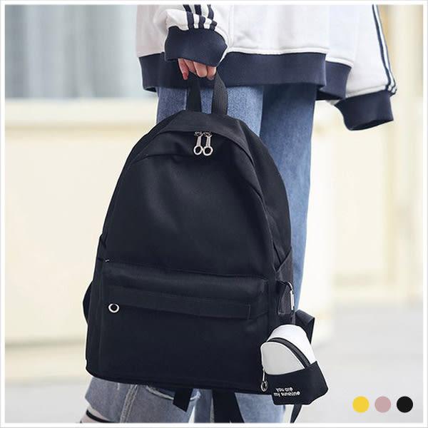 後背包-陽光女孩單色帆布後背包-共3色-A12121523-天藍小舖