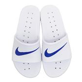 【現貨】NIKE KAWA SHOWER 一體成型 套式拖鞋 白底藍勾 男女 防水 不發臭 不潮濕 運動 832528-100