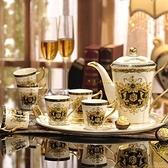 下午茶茶具組合含咖啡杯+茶壺-6人創意高檔歐式骨瓷杯花茶具69g50[時尚巴黎]
