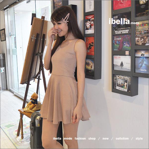 五折-韓.特價.名媛party風.條紋光澤感下襬圓裙背心洋裝 ibella mode【83-94201206】