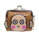 【日本進口正版】淘氣猴 三麗鷗人物 珠扣包 零錢包 Sanrio - 052526