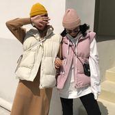 馬甲-秋冬新款韓版加厚無袖棉馬甲女裝寬鬆棉服馬夾面包服上衣學生 依夏嚴選