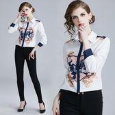 3134-促銷不退換春裝時尚長袖印花百搭個性顯瘦氣質襯衫ZL611-1朵維思