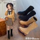 女童靴子2020秋冬新款真皮兒童時尚中筒雪地靴小女孩公主加絨長靴 聖誕節全館免運