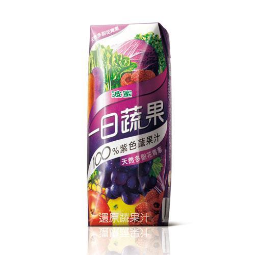 波蜜一日蔬果100%紫色蔬果汁250ml x18入【愛買】