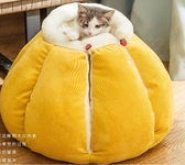 寵物窩 貓窩冬季保暖四季通用封閉式可拆洗網紅南瓜別墅寵物貓咪用品冬天 優拓