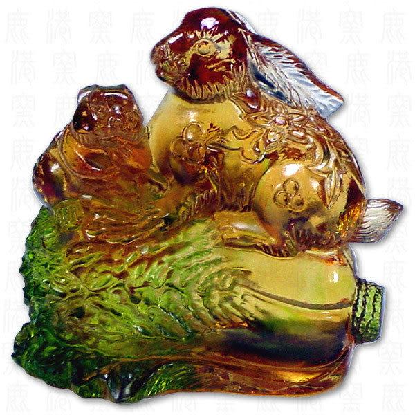 鹿港窯-居家開運商品-琉璃SS十二生肖文鎮-雞-附精美包裝◆免運費送到家