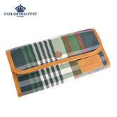 【COLORSMITH】LPC・扣式長夾-經典綠格紋・WLLPC2054-CH