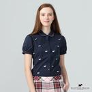 基本百搭款襯衫 經典小梗犬繡散落於其中 為簡單的襯衫帶來色彩 公主袖設計 帶點浪漫童話風格