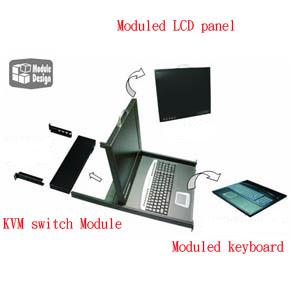 SUNBOX 8埠17吋 LCD KVM (KVM-6508-17)