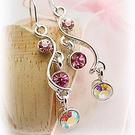 春光紫晶耳環
