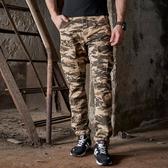 [美國空軍一號軍用制服] 歐美熱賣男式多口袋純棉迷彩褲 大碼MA1軍工裝褲旅行1692/卡其迷彩**預購