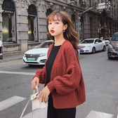 針織外套女 秋裝新款毛衣開衫女寬鬆毛衣針織衫
