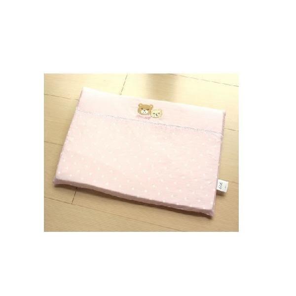 GMP Baby 雙熊繡花乳膠平枕 (附枕套)(粉色) 490元 【現貨2組 】