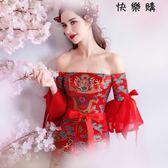 紅色新娘婚紗禮服旗袍結婚敬酒服