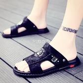 涼鞋男拖鞋夏季半拖鞋男潮流韓版室外穿個性沙灘鞋男士涼鞋涼拖男 芊惠衣屋