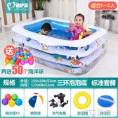 游泳池 倍護嬰兒童遊泳池充氣家庭嬰兒成人家用海洋球池加厚超大號戲水池 igo 聖誕節狂歡