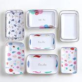 陶瓷壽司盤子創意日式長方盤菜盤蛋糕點心盤腸粉盤家用餐具西餐盤 艾尚旗艦店