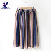 American Bluedeer-隨興封條紋裙