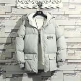 棉衣男士外套新款冬季衣服韓版潮流面包棉服冬天男裝棉襖加絨 深藏blue