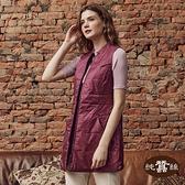 【岱妮蠶絲】極輕量雙面立領長版鋪蠶絲背心(霧紫紅)