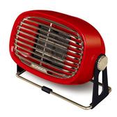 《一打就通》400W露營必備【WONDER 旺德】復古風陶瓷電暖器 (WH-W22F)