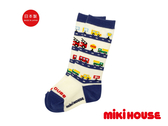 MIKI HOUSE 日本製 可愛小汽車高筒襪