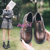 特賣娃娃鞋女日系復古平底單鞋學生原宿圓頭娃娃鞋百搭韓版學院風英倫小皮鞋女