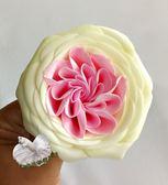 單朵價錢 ~ [ 粉白雙色 奧斯汀香水香皂玫瑰花] 最新技術 送禮新選擇