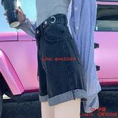 牛仔短褲女薄款寬松闊腿高腰a字夏季女裝超短熱褲【CH伊諾】