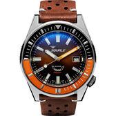 SQUALE 鯊魚錶 MATIC馬蒂奇復刻機械錶-咖啡/44mm MATICXSD.PTS
