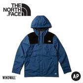【The North Face 美國 男 防風外套《蔭藍》】3VTZ/連帽外套/輕量/機能外套/運動夾克/風衣