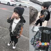 霖霖家 男童外套冬裝 兒童迷彩服加絨 童裝男衣服 寶寶夾克衫連帽