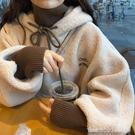 連帽T恤 羊羔絨衛衣女韓版潮學生寬鬆bf慵懶風上衣秋冬加絨加厚假兩件外套 星河光年