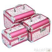 婚慶盒 首飾盒公主歐式飾品盒首飾收納盒大韓國木質結婚陪嫁紅色首飾盒子【美物居家館】