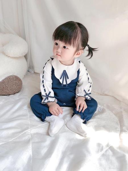 滿月服網紅滿月嬰兒衣服秋裝女寶寶連體衣春秋可愛公主哈衣學院風連體衣 限時特惠