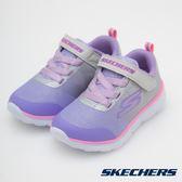 Skechers GO RUN 400 灰x薰衣草紫 中童 魔鬼氈 運動休閒鞋 NO.R3184