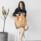 帆布包包女單肩斜小清新大容量手提購物袋