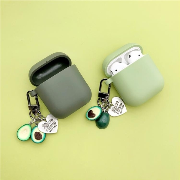 airpods2保護套牛油果蘋果無線藍牙耳機套保護殼硅膠個性卡通防摔(不包含耳機)
