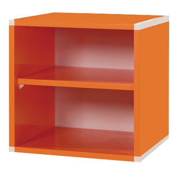 【采桔家居】極度漾彩 環保1.2尺塑鋼雙格收納櫃(11色可選)