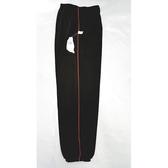 【MIT】台灣製造工作運動褲【6918-8-L】 束口褲管-黑色 側邊細紅色條●夏季限定≡輕薄【 守門員】
